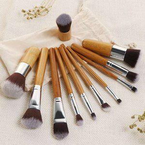 Bamboo Pro Makeup Brush Set with Bag & Free Gift